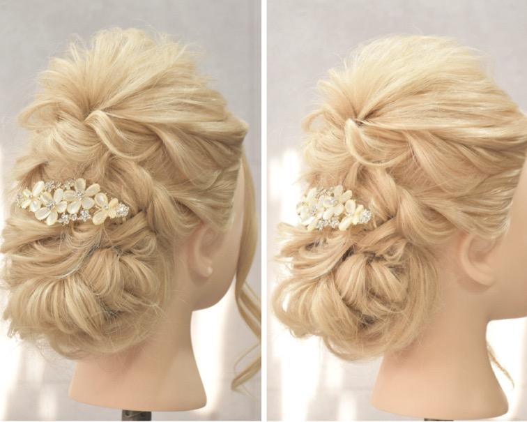 結婚式のお呼ばれに 髪型 ヘアスタイルは簡単アレンジでナチュラルに