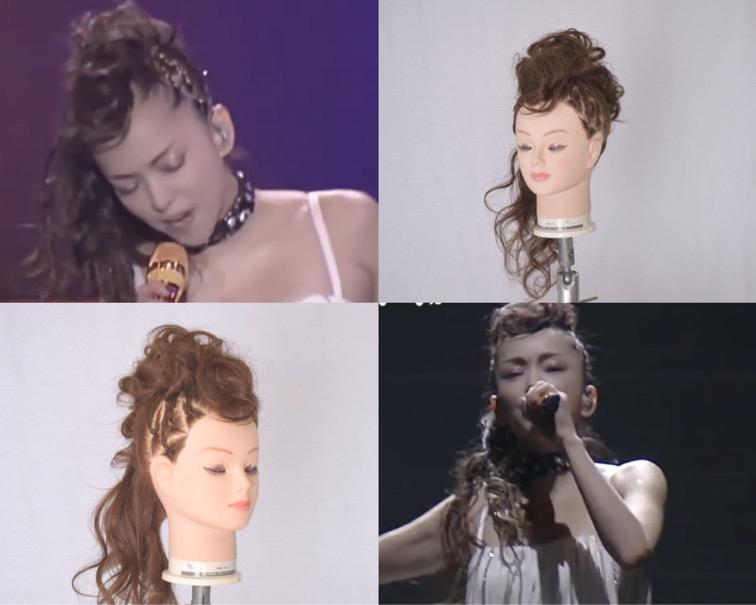 >>「In Two」PVの髪型を参考にした安室奈美恵さんのモヒカンアレンジのやり方